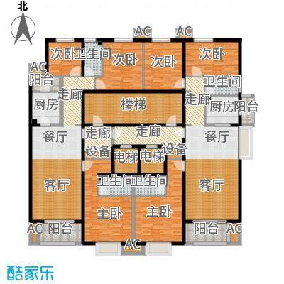 亚太国际公馆G单元标准层户型