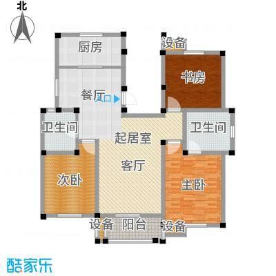南和佳苑139.00㎡F户型 3房2厅2卫户型3室2厅2卫