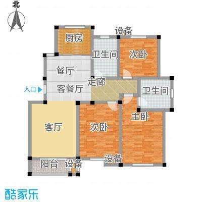 南和佳苑128.00㎡B户型 3室2厅2卫户型3室2厅2卫