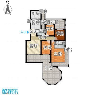 香江帝景户型4室2卫1厨
