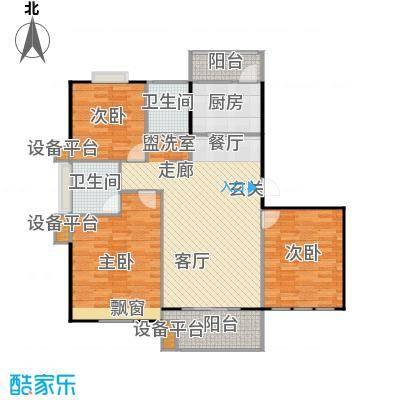 喜利达名苑L户型120.59平方米户型
