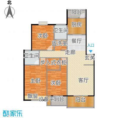 喜利达名苑E户型129.60平方米户型
