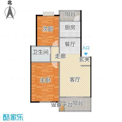 喜利达名苑A户型88.57平方米户型