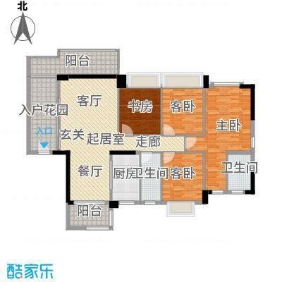 盈悦豪庭134.00㎡A型(1、2、3、4幢)01房户型QQ