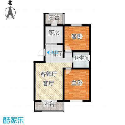 天津未来城90.76㎡C户型2室2厅1卫