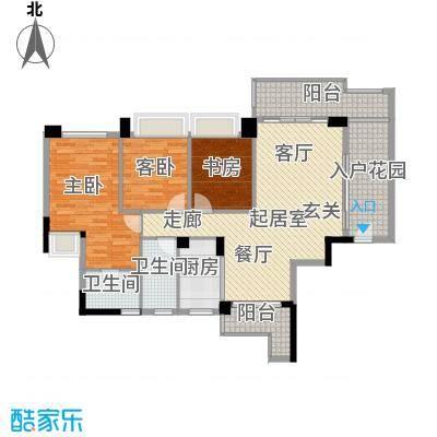 盈悦豪庭117.00㎡A型02房户型3室2厅2卫QQ