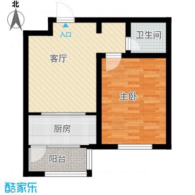 天津未来城59.82㎡J户型1室1厅1卫