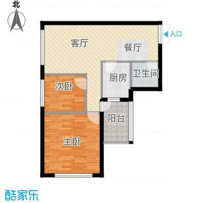 高铁时代广场84.50㎡户型2室2厅1卫
