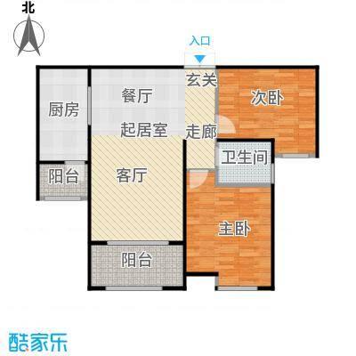 中海紫御公馆95.00㎡天朗尚居户型2室2厅1卫