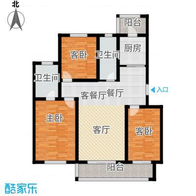 天津未来城119.16㎡D户型3室2厅2卫