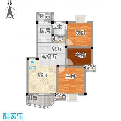 汉口人家(二期)96.08㎡房型: 三房; 面积段: 96.08 -128.37 平方米;户型