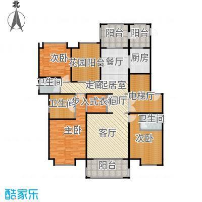 中海紫御公馆192.00㎡亲海华宅户型3室2厅3卫