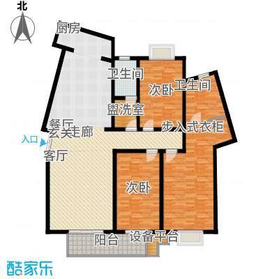 名人国际 TOP世界观207.97㎡01户型B单元三室两厅两卫户型3室2厅2卫