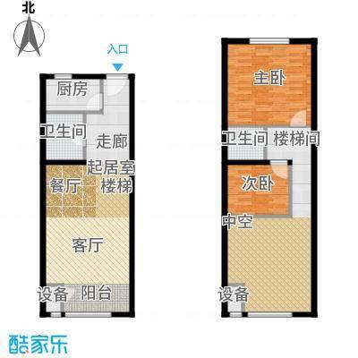 裕东公寓57.25㎡loft 1号楼标准层1-1-05(5A)户型