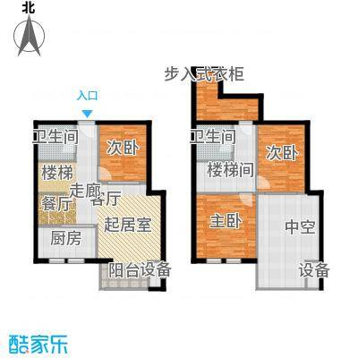 裕东公寓70.29㎡loft 1号楼标准层1-1-03(3A)户型