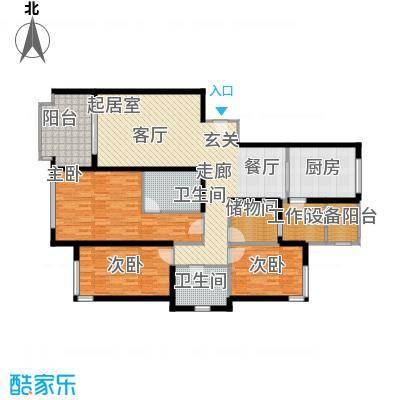晋合水巷邻里花园140.00㎡三房二厅二卫-143平方米户型