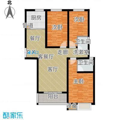 凯旋国际广场130.45㎡C户型 3室2厅2卫1厨户型3室2厅2卫