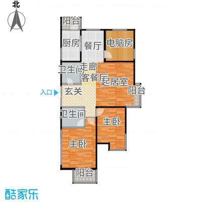 恋日风尚16号楼1门03-三室两厅两卫户型