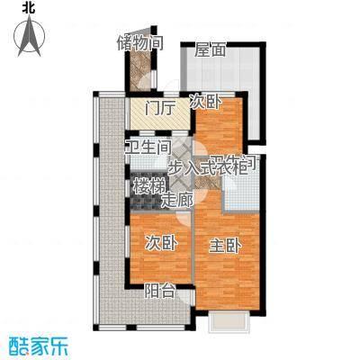 香江帝景209.51㎡叠加别墅二层户型5室2厅3卫