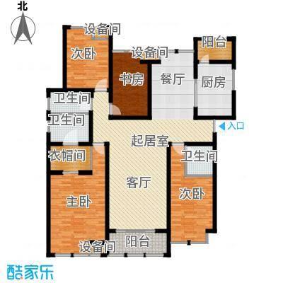 中天锦庭户型4室3卫1厨