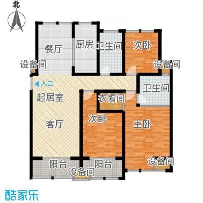中天锦庭户型3室2卫1厨