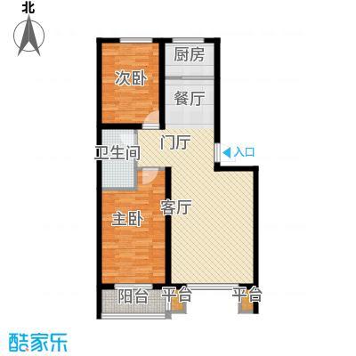 明日星城E两室两厅一卫户型2室2厅1卫