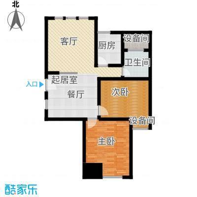 中天锦庭88.30㎡6号楼C1户型2室2厅1卫户型2室2厅1卫