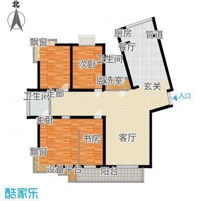 名人国际 TOP世界观219.66㎡03户型B单元四室三厅两卫户型4室3厅2卫