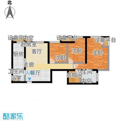 雅宾利花园118.26㎡一期G1户型 3室2厅2卫户型3室2厅2卫