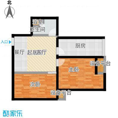 雅宾利花园78.40㎡一期C2户型 2室2厅1卫户型2室2厅1卫