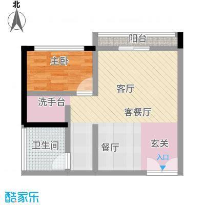 尚城国际户型1室1厅1卫