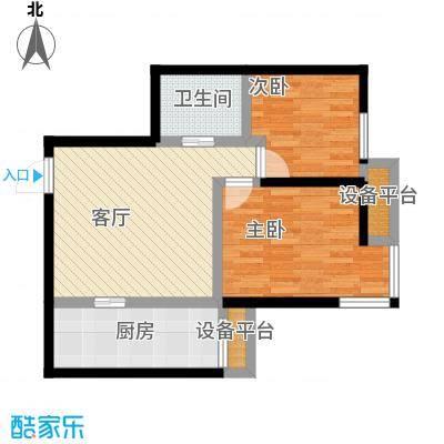 雅宾利花园70.80㎡C4户型 2室2厅1卫户型2室2厅1卫