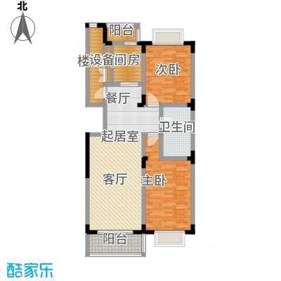 鑫瑞名苑3号楼2门01户型 107.76平米户型