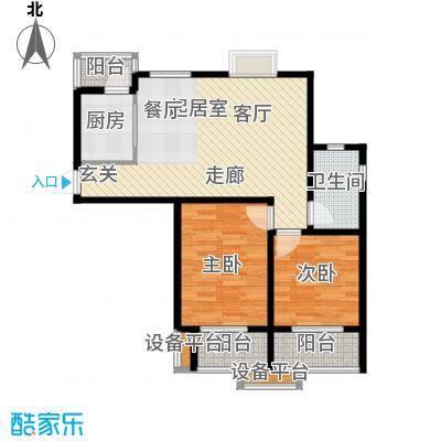 卓雅豪庭两室两厅户型