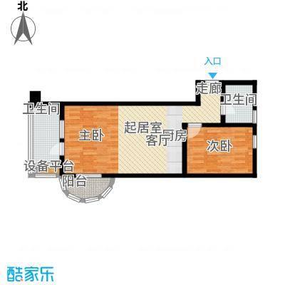 御庭春MOM∧白金海岸公寓77.48㎡G户型2室1厅1卫