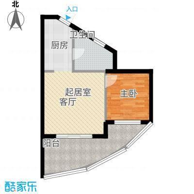 佳兆业东戴河51.86㎡高层户型10室