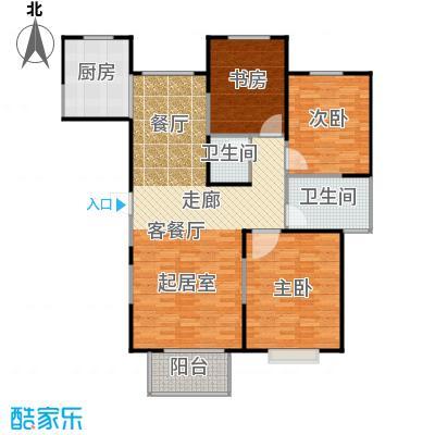 恋日风尚11号楼-121.43平米户型