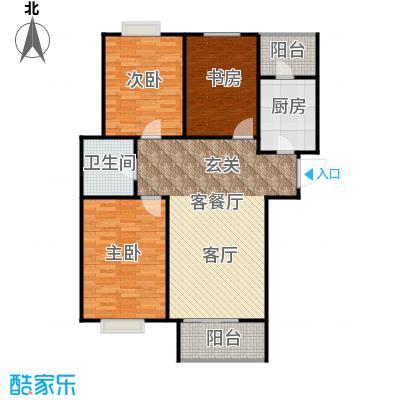 恋日风尚12号楼-119.64平米户型