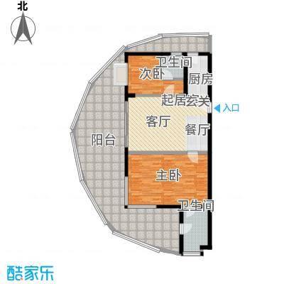 佳兆业东戴河114.00㎡A瞰海华宅户型2室2厅2卫