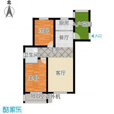 海韵星城户型2室1厅1卫1厨