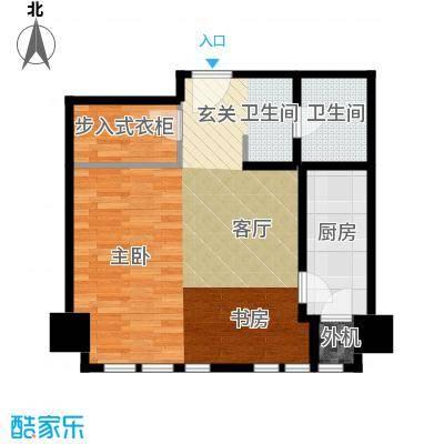 天津公馆一室一厅一卫 67平米户型