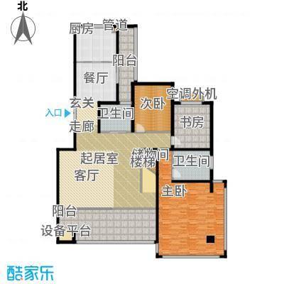 香江帝景223.34㎡洋房复式一层户型4室2厅3卫