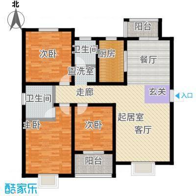 龙悦湾户型3室2卫1厨