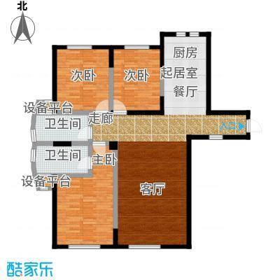 华侨御景湾140.00㎡房型: 三房; 面积段: 140 -160 平方米;户型