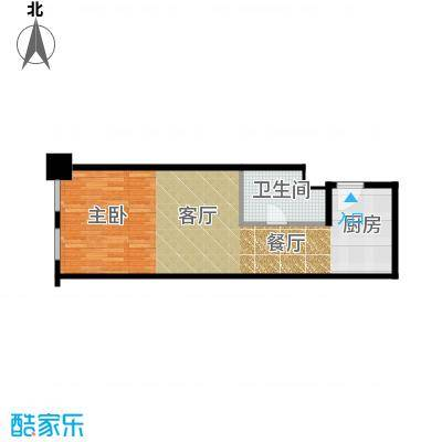天津公馆户型1厅1卫
