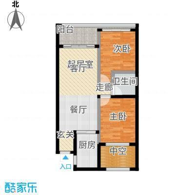 东方・山海湾61.14㎡A户型2室2厅1卫