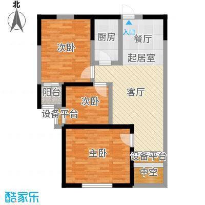 华侨御景湾80.00㎡房型: 二房; 面积段: 80 -100 平方米;户型