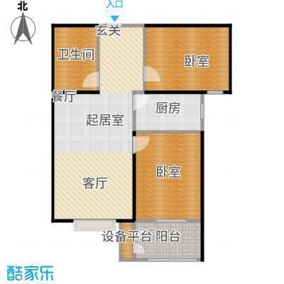 一诺假日兰庭82.00㎡两室一厅一卫户型2室1厅1卫