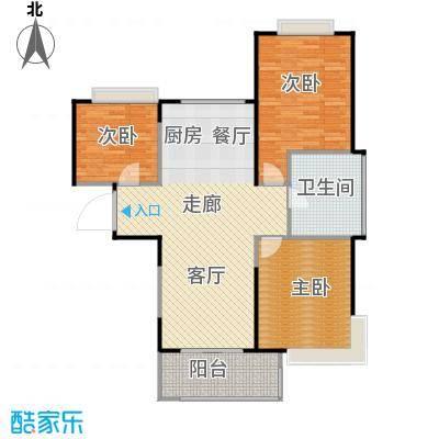 雅居乐云南原乡97.04㎡A10a户型3室2厅1卫