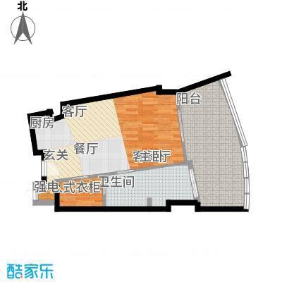 保利・凤凰公馆塔楼S2户型平面图户型